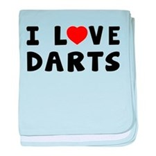 I Love Darts baby blanket