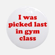 Gym Class Ornament (Round)