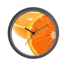 Two halves of an orange, partial view Wall Clock