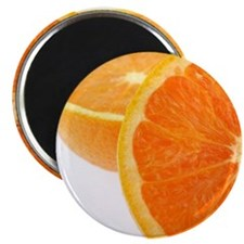 Two halves of an orange, partial view Magnet