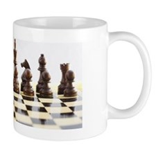 Chess pieces on chess board Mug