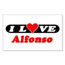 I Love Alfonso Rectangle Decal