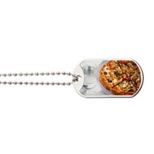 Close up of a pizza Dog Tags