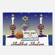 Judaica Shabbat Shalom Postcards (Package of 8)