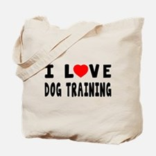 I Love Dog Training Tote Bag