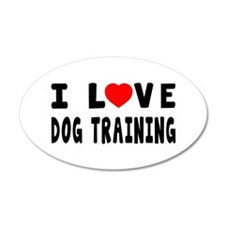 I Love Dog Training Wall Decal
