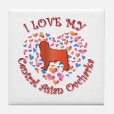 Love CAO Tile Coaster