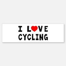 I Love Cycling Bumper Bumper Sticker