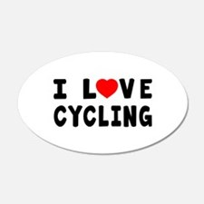 I Love Cycling Wall Decal