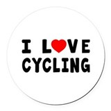 Cycling Round Car Magnets