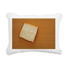 One bread slice on a tab Rectangular Canvas Pillow