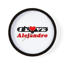 I Love Alejandro Wall Clock
