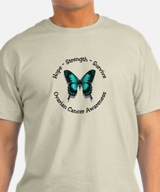 Ovarian cancer butterfly gifts merchandise ovarian for Ovarian cancer awareness t shirts