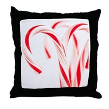 Red and white candy canes, studio sho Throw Pillow