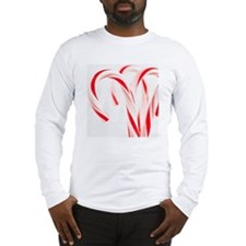 Red and white candy canes, stu Long Sleeve T-Shirt