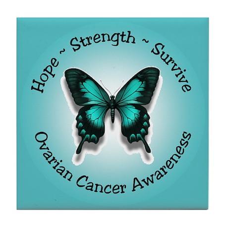 Ovarian Cancer Awareness Tile Coaster