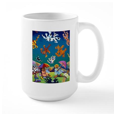 'Raining Cats & Dogs!' Large Mug