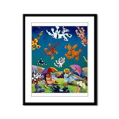 'Raining Cats & Dogs!' Framed Panel Print