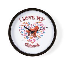 Love Chinook Wall Clock