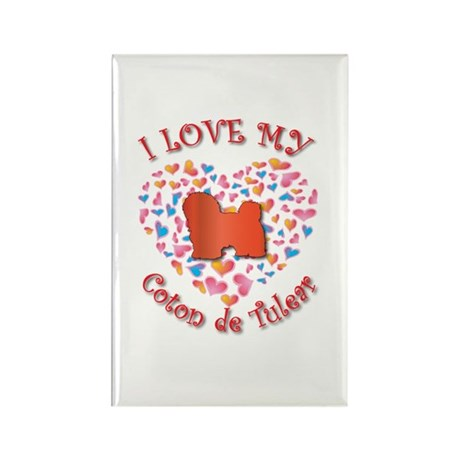Love Coton Rectangle Magnet (100 pack)