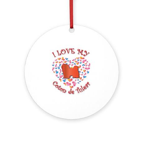 Love Coton Ornament (Round)