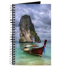 Long Tail Boat floating on turquoise water Journal