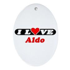I Love Aldo Oval Ornament