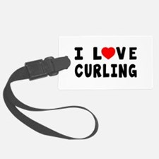 I Love Curling Luggage Tag