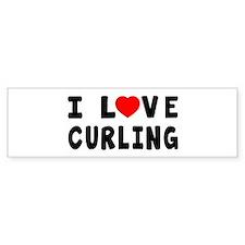 I Love Curling Bumper Sticker