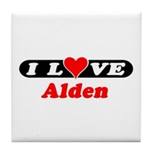 I Love Alden Tile Coaster