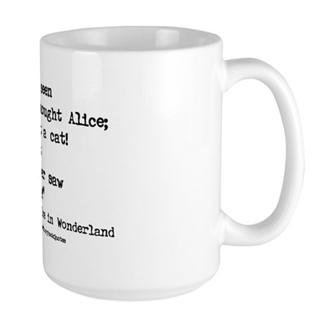 """""""Grin"""" Quote ONLY - Large Mug"""
