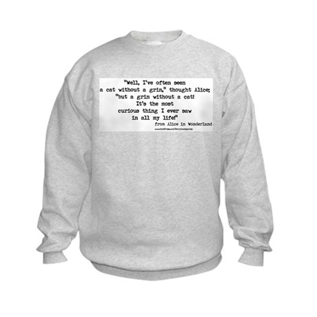 """Grin"" Quote ONLY - Kids Sweatshirt"
