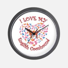 Love Coonhound Wall Clock