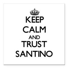 """Keep Calm and TRUST Santino Square Car Magnet 3"""" x"""