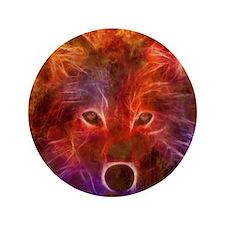 """Fire Wolf 3.5"""" Button"""