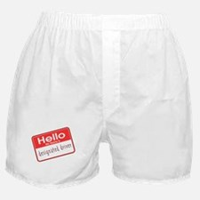 HELLO MY NAME IS DESIGNATED DRIVER Boxer Shorts