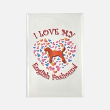 Love Foxhound Rectangle Magnet (10 pack)