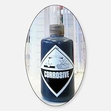 Corrosive liquid Sticker (Oval)