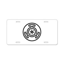 Hecate's Wheel Aluminum License Plate