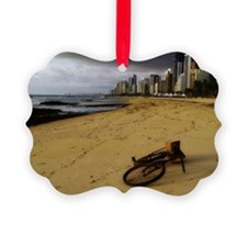 Bicycles on beach Ornament