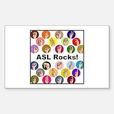 ASL Rocks! Rectangle Decal