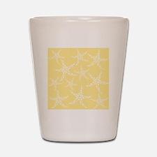 Dotty Starfish, Yellow. Shot Glass