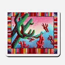 'Dancing Saguaros' Mousepad