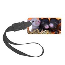 3 little micro pigs Luggage Tag