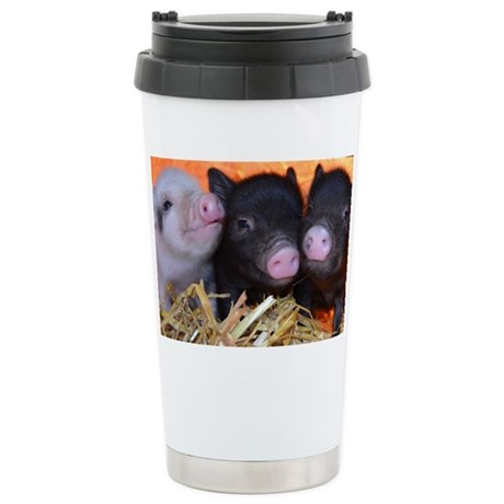 3 little micro pigs stainless steel travel mug by admin for Mug isotherme micro ondable