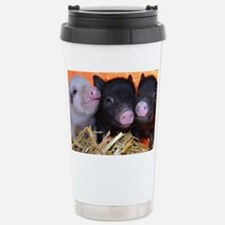 3 little micro pigs Stainless Steel Travel Mug