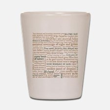 Shakespeare Insults Shot Glass