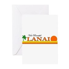 Visit Beautiful Lanai, Hawaii Greeting Cards (Pack