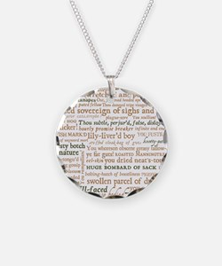 Shakespeare Insults Necklace