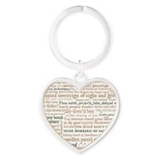 Shakespeare Insults Heart Keychain